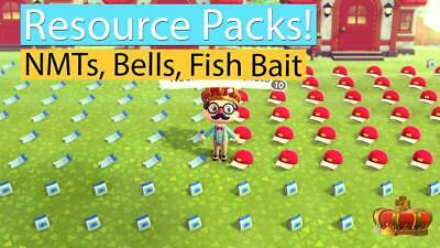 Animal Crossing New Horizons NMT's, Bells, Fish Bait, Nook Miles Tickets CHEAP!!