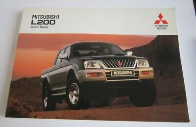 NEW Mitsubishi Owners Handbook / Manual L200 Pickup UNUSED FREE P & P