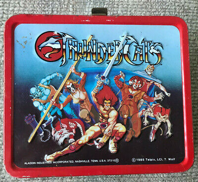 Vintage Thundercats Lunchbox And Thermos 1985 Great Shape
