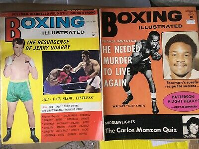 VINTAGE BOXING  ILLustrated  MAGAZINE x 2 issues -1972/73