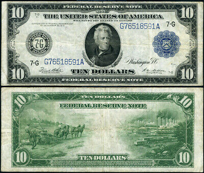 FR. 931 A $10 1914 Federal Reserve Note Chicago VF+