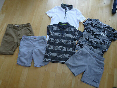 F&F GEORGE boys 6 piece clothes bundle t shirt shorts AGE 7 - 8 YEARS EXCELLENT