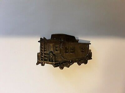 Train Caboose Brass Belt Buckle. Hobby Train Collectible. Fashion. Ornate