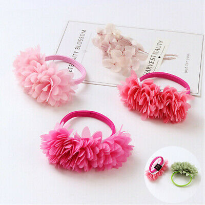 Hair Elastic Clips Flower Kids Girls Bands Accessories Multi-layer