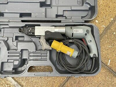 Fox 55D 110V Collated Screwdriver 4,9A, 500W, with Nose Attachment and Case