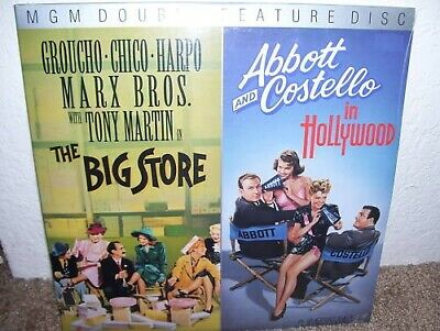 Classic The Big Store & Abbott & Costello in Hollywood MGM on Laser Disc LD mint