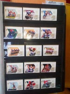 Gb 2012 Olympic Winners Stamps Full Set