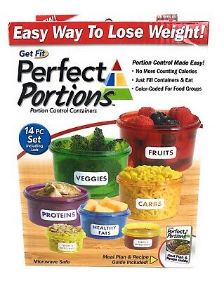 Perfect Portion Control Food Storage Containers Set Kit Easy Way To Lose Weight