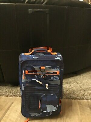 """Crckt Kids 18"""" Rolling Carry On Suitcase Blue Camo"""