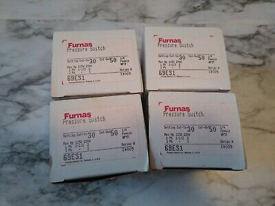 Lot of 4 Furnas 69ES1 Pressure Switches