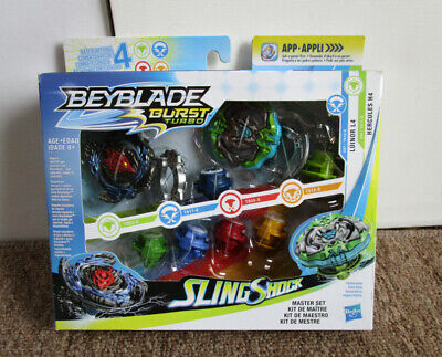Beyblade Burst Turbo Sling Shock Master Set 2019 Hasbro - New