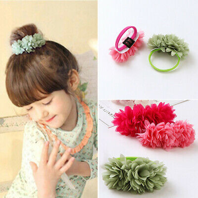 Multi-layer Kids Hair Bands Flower Girls Elastic Accessories Clips