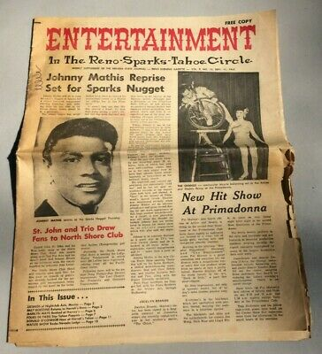 1965 Entertainment Weekly Supplement of The Nevada State Journal Reno Gazette