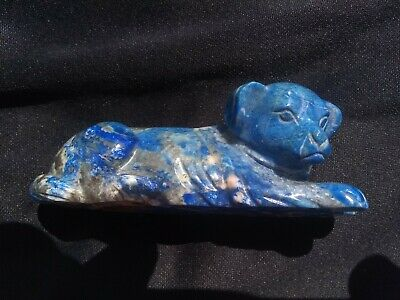 Antique Chinese Carved  Blue Lapis Dog