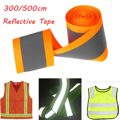 Warning sewing on webbing  Fluorescent Reflective Tape Clothing traffic warning