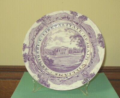"""Williams College 10.25""""  Staffordshire Dinner Plate  Chapin Hall"""