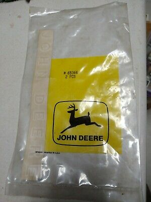 "1960s  1970s Genuine John Deere Bicycle  Top Tube Red Decals ""NOS"" #M65944"