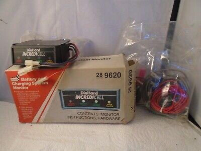 Vintage Sears Battery & Charging System Monitor Diehard Incredicell 9620