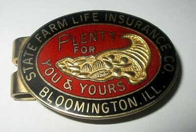 State Farm  Insurance Co Plenty For You & Yours Bloomington Ill Money Clip