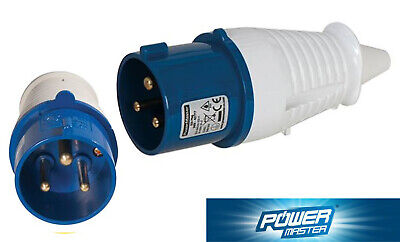 Power Master Heavy Duty 32A Plug 230V 3 Pin Site / Industrial Use IP44 Rated