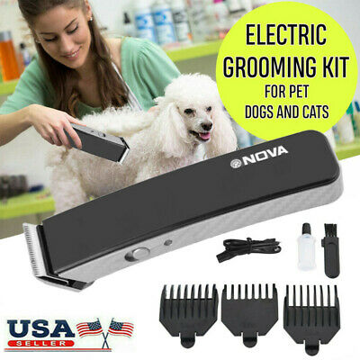 Electric Animal Pet Dog Cat Hair Trimmer Shaver Razor Grooming Clipper Cordless