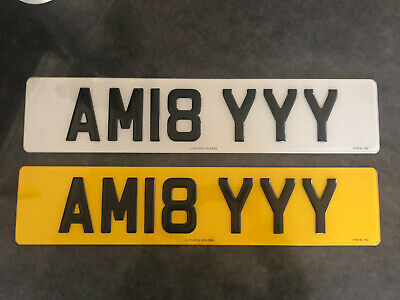 Pre Owned Personalised Registration Plate, Amy 3d Gel