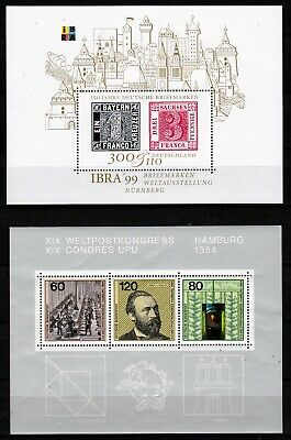 GERMANY 2 X DIFFERENT COMMEMORATIVE S/S  (ref 1) MNH