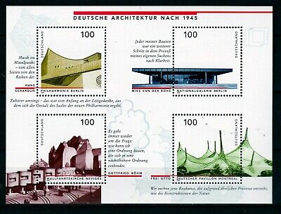 GERMANY 1997 ARCHITECTURE S/S  (ref 5) MNH