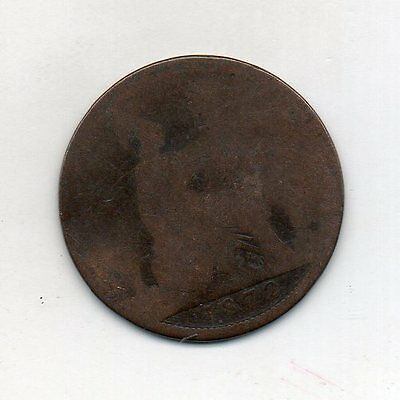 GREAT BRITAIN One Penny 1872