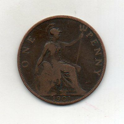 GREAT BRITAIN One Penny 1901