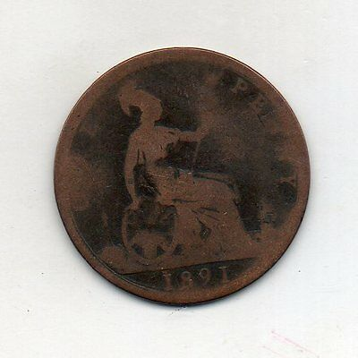 GREAT BRITAIN One Penny 1891
