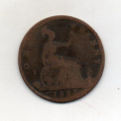 GREAT BRITAIN One Penny 1887