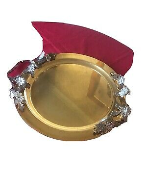 Gold & Silver Plated Tray.