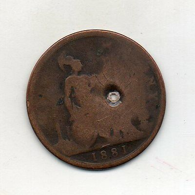 GREAT BRITAIN One Penny 1881