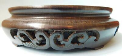 Antique Carved Wood Chinese Display Base Stand for Vase Cloisonné Jade etc
