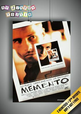 MOMENTO Poster Movie Wall Art Affiche