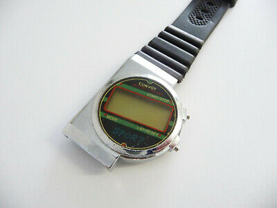 RARE Convoy melody chrono wrist watch Sport model; 1980s era; LCD digital screen