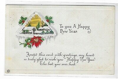 ANTIQUE Post Card To You a Happy New Year 1916