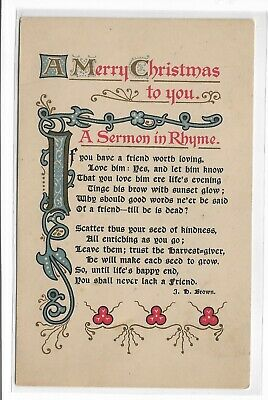 ANTIQUE Post Card A Merry Christmas to You