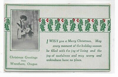 ANTIQUE Post Card I Wish You a Merry Christmas