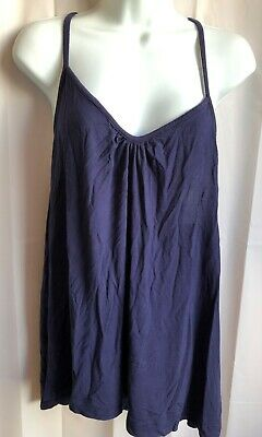 Woman's Size X-Large Blue Cotton Short Night Gown--Cynthia Rowley--Pre-Owned