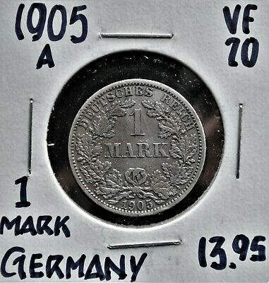 1905-A Germany 1 Mark VF-20