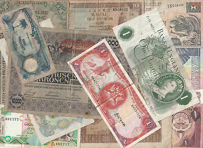 33 x Old World BANKNOTES - All Different-  includes £.$ etc - Pack#2686 - LOOK