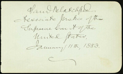 Samuel D. Blatchford - Autograph 11/11/1883 With Co-Signers