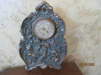 hand hammered copper mantle clock c1900 retailed by libertys