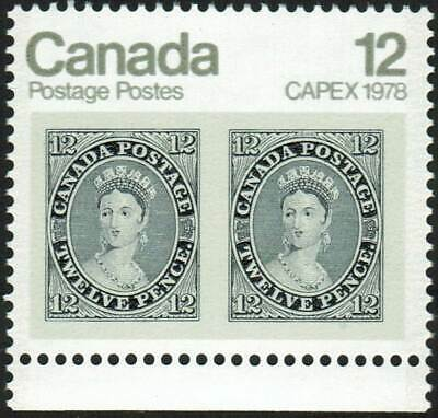 Canada sc#753 Capex '78, Stamp on Stamp: 12d Queen Victoria, Mint-NH