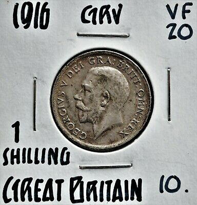 1916 Great Britain Shilling VF-20