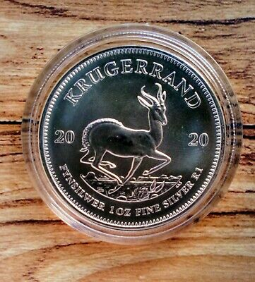 2020 1oz South African Krugerrand Silver Bullion Coin in capsule