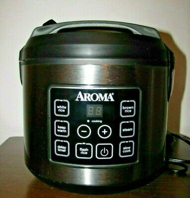 Aroma Housewares ARC150SB Digital Rice Cooker - Silver 20 Cups  (Cooked)