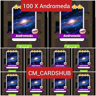 100 x Andromeda :- Coin Master Cards ( Get in 5 Min)